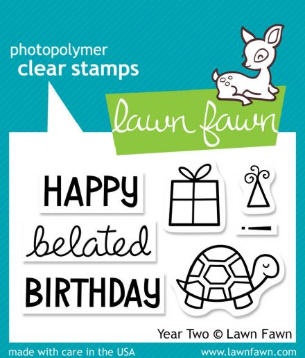 LF0510  S ~  YEAR TWO - TORTOISE ~ CLEAR STAMPS BY LAWN FAWN
